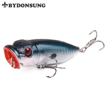 BYDONSUNG 6.5CM 11.8G Fishing Lure Popper Bait Barbed Hook Fishing Deal with Lifelike 3D Eyes Faux Lure Saltwater Popper Fishing