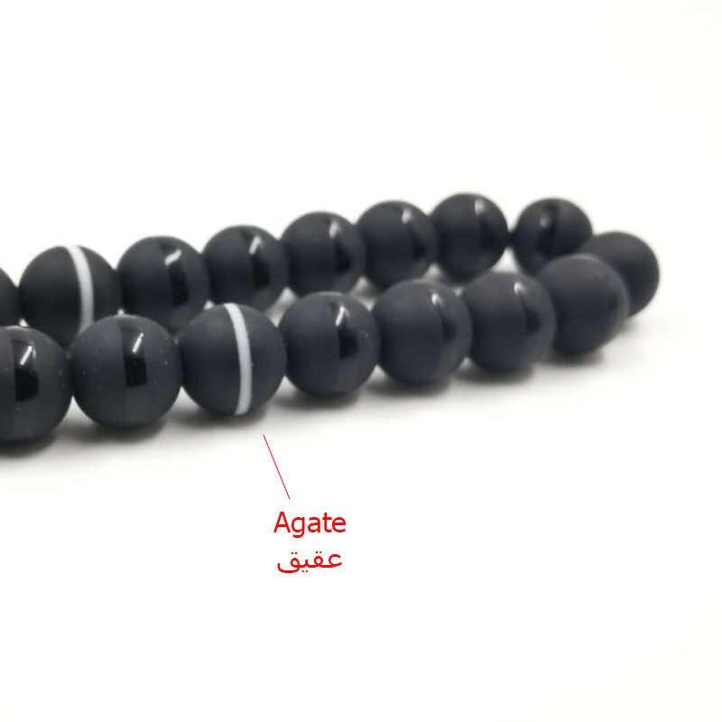 Di cristallo Tasbih e agate nappa stile Popolare di Cristallo Nero branelli di preghiera Musulmani 33 66 99Misbaha perline Islam Rosario Islamico regalo