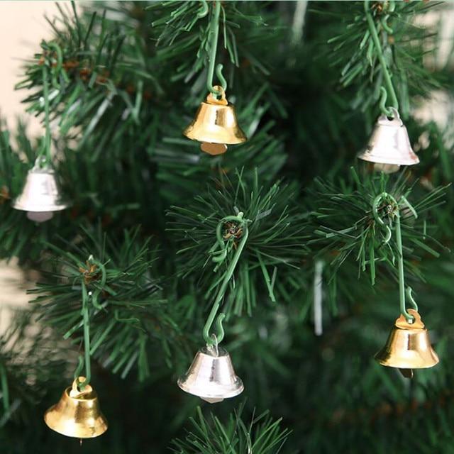 40pcslot Christmas Golden Silver Jingle Bells Craft For Christmas Adorable Silver Bells Christmas Decorations