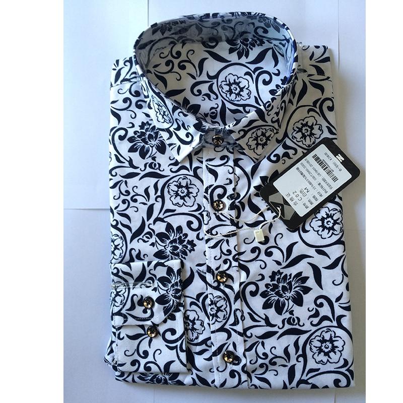 Nova pomlad moške priložnostne majice majica z dolgimi rokavi s - Moška oblačila - Fotografija 4