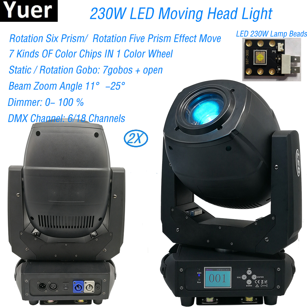 2Pcs/Lot LED 230W Spot Wash Beam 3IN1 Moving Head Lights For Stage Theater Disco Nightclub Party Bar Laser Stage Dj Equipment|Stage Lighting Effect| |  - title=