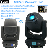 2Pcs/Lot LED 230W Spot Wash Beam 3IN1 Moving Head Lights For Stage Theater Disco Nightclub Party Bar Laser Stage Dj Equipment