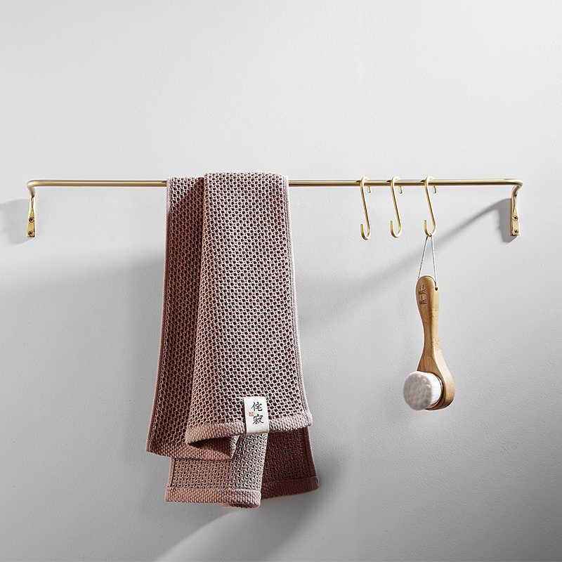 Kit de accesorios de baño Simple cepillo de oro Toalla de baño estante de papel gancho de tela cepillo dorado estante de baño de lujo