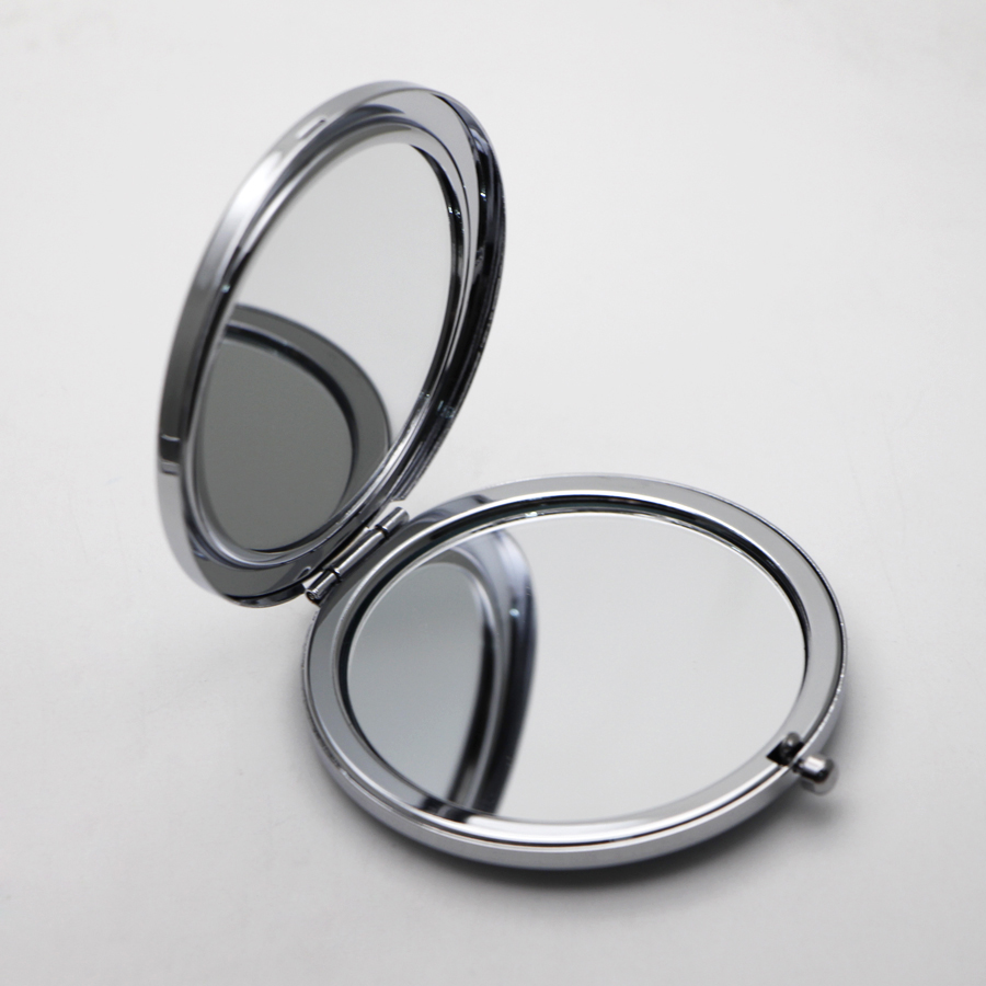 New portable folding makeup mirror round silver with epoxy sticker and discs 10x in makeup mirrors from beauty health on aliexpress com alibaba group