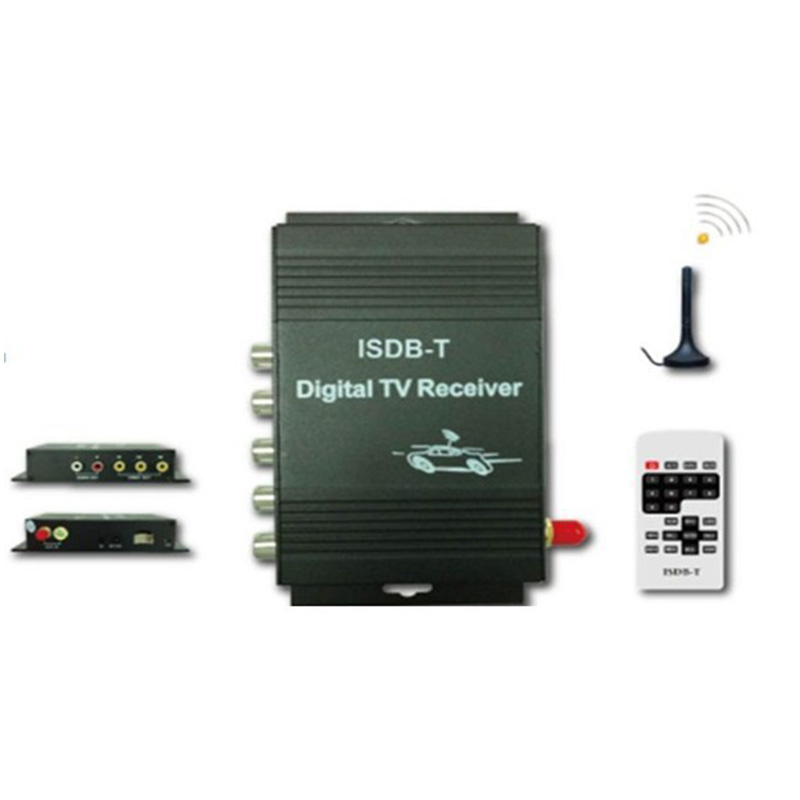For Free shipping  External Automobile Digital TV TUNERS ISDB-T TV receiver for South America free shipping isdb t quad tuner pcie card tbs6814 perfect for brazil sbtvd and japan isdb t tv programs