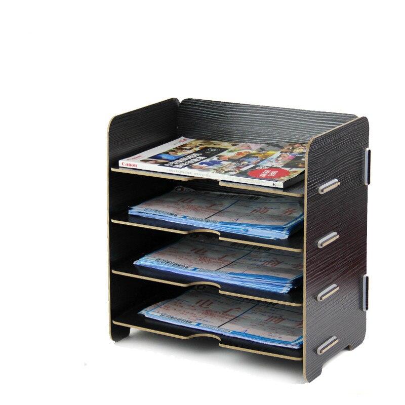 Wood Office Supplies Desktop A5 Filling Box Rack