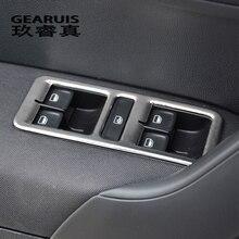 Автомобильный Стайлинг для Volkswagen vw POLO стеклоподъемник управление рамкой оконный переключатель декоративная накладка для панели подлокотника авто аксессуары для интерьера