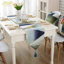 2017 Modern Colorful Geometric Jacquard Table Runners for Home Decoration Wedding Party Fashion Decorative Runner ROMORUS