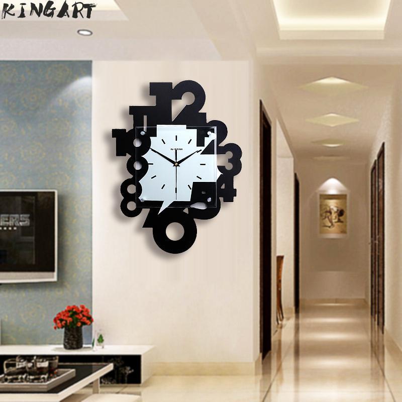 Big Wooden Wall Clock European Silent Modern Design Decorative Hanging Wall Clock Watches For Home Decor Wall Clock