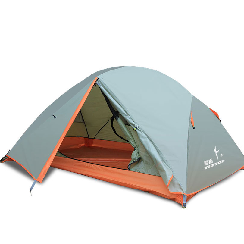 Mountaintop Tent 210T Polyester Fabric Ultralight 2 Person Double Layers Aluminum Rod Camping Tent 3kg ultralight camping tent 2 3person coated with 20d silicon double layers aluminum rod snow mountain keep warm tents