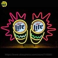 Neon Signs Miller Lite Caps Light Neon Bulb Sign Handcraft Beer Print Sign Advertise Custom Neon