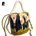 Luxury brand Women Handbags Cartoon Shoulder Bucket Italy Borse Braccialini Lilies Flower Messenger bag Cross Body Sacs a main