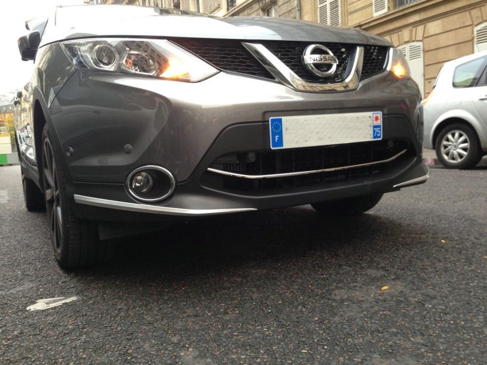 Autocollant de protection de pare-chocs avant automatique pour Nissan Qashqai 2015, accessoires extérieurs automatiques de chrome d'abs, accessoires de voiture - 4