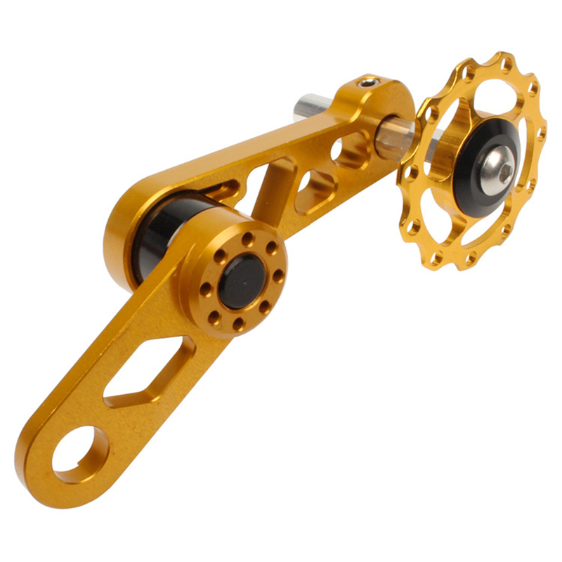 Folding Bicycle Guide Wheel Lp Oval Aluminum Alloy Cycling Single Speed Rear Derailleur Chain Tensioner with Sprocket MTB Bike in Bicycle Chain from Sports Entertainment