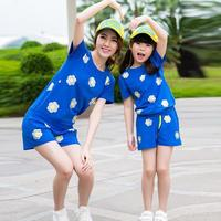 2015 Summer Sports Suit Matching Mother And Daughter Clothes Women Girls Clothing Sets Family Look Mommy