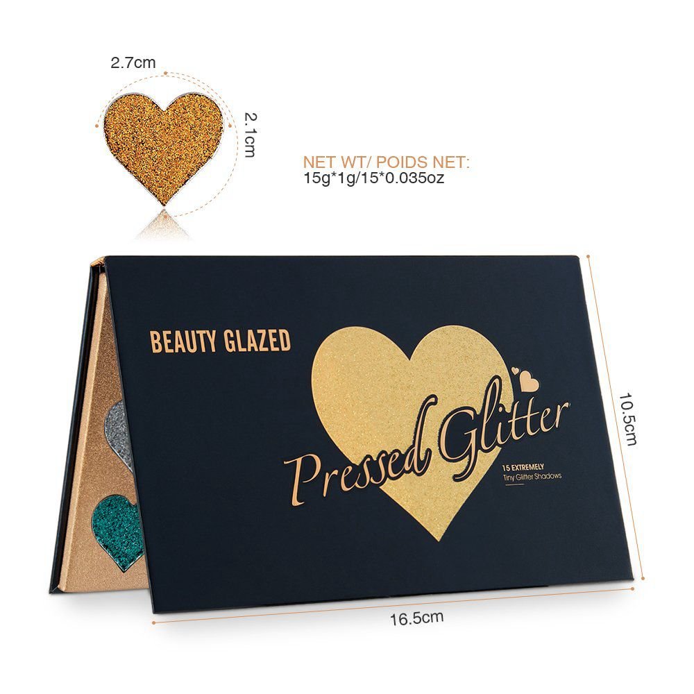 Beauty Glazed Glitter Makeup Eyeshadow Palette Cosmetics Glitter Metallic Eyeshadow palette maquillage yeux Pigment Shadow Kit