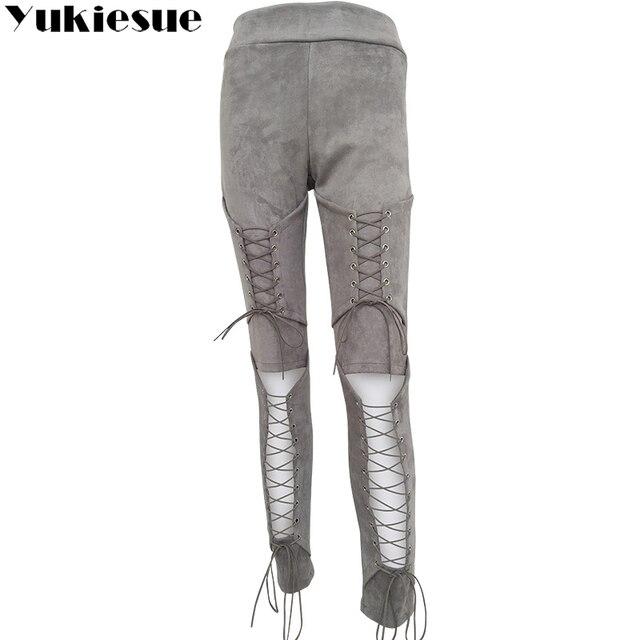 Lace Up Bodycon Pencil Pants 10
