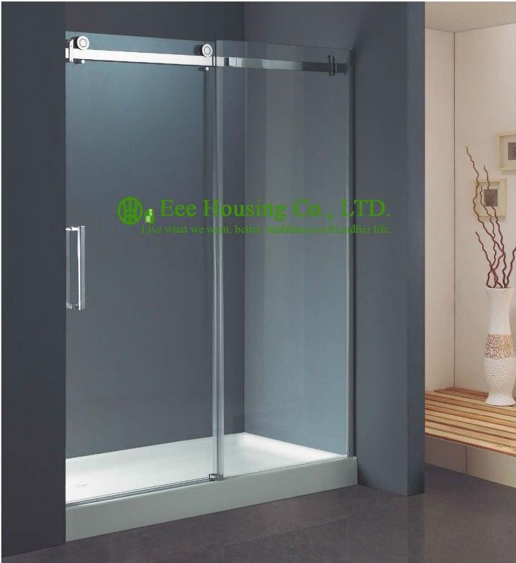 Salle de douche meilleur prix entier douche 304 en acier inoxydable sans cadre en acier inoxydable givré bâtiment utilisé portes de douche