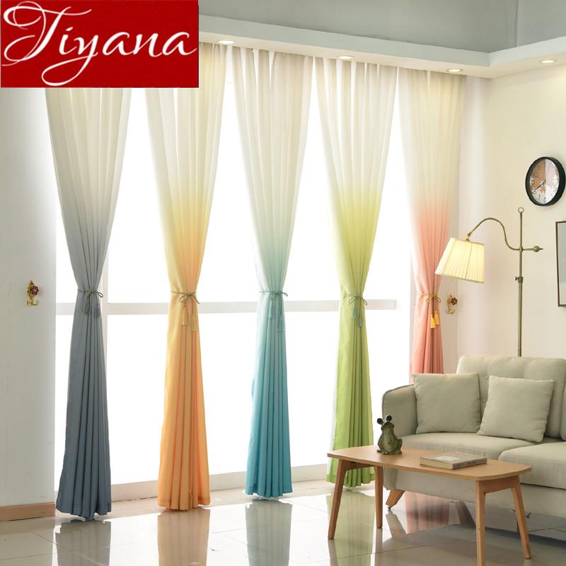 gradiente verde nios habitacin ventana de cortinas moderna sala de estar dormitorio curtians gris telas cortinas
