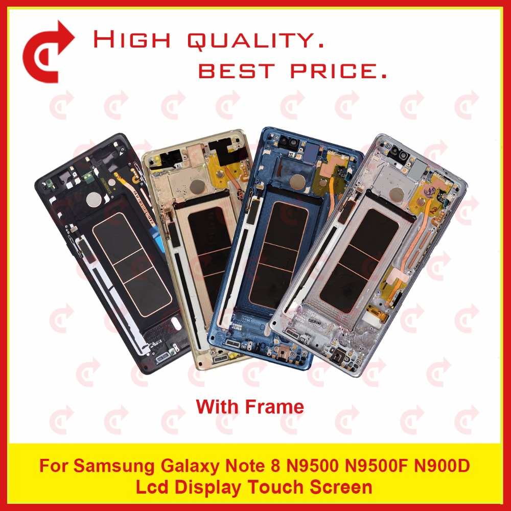 "Image 2 - ORIGINAL 6.3"" For Samsung Galaxy Note 8 N9500 N9500F N900D N900DS Lcd Display Touch Screen Digitizer Assembly Complete Frame-in Mobile Phone LCD Screens from Cellphones & Telecommunications"
