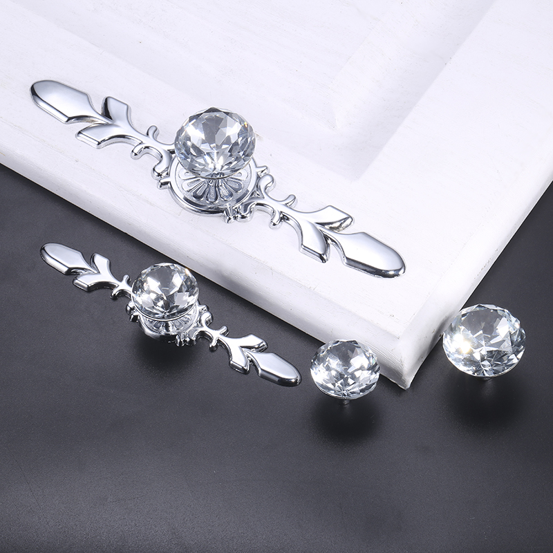Luxury Diamond Crystal Handles Shoebox Cabinet Handles (15)