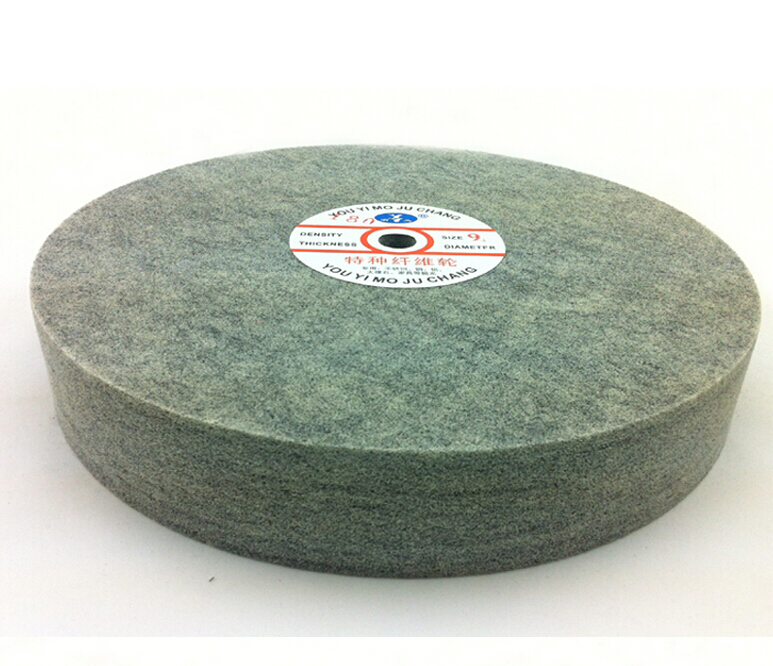 Metal polishing wheel 300*50mm 9p Non woven abrasive wheel Nylon Fiber polishing wheel Abrasive disc fiber polishing buffing wheel grit nylon abrasive 25mm thickness 7p hardness 32mm id