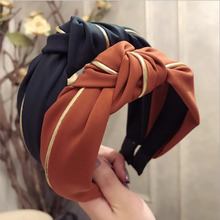 2019 New Spring Hairband Turban For Women Phnom Penh Inlay Hair Accessories Wide Side Vintage Headband Headwear