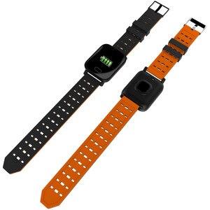 Image 4 - Pulsera inteligente Bluetooth pantalla táctil de Color grande reloj inteligente Correa extraíble de presión arterial para regalos iOS Android