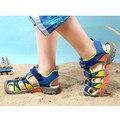 Children Summer Sandals 2016 kids boys rubber sole slip-resistant fashion flats shoes children breathable sandal shoes T16-58