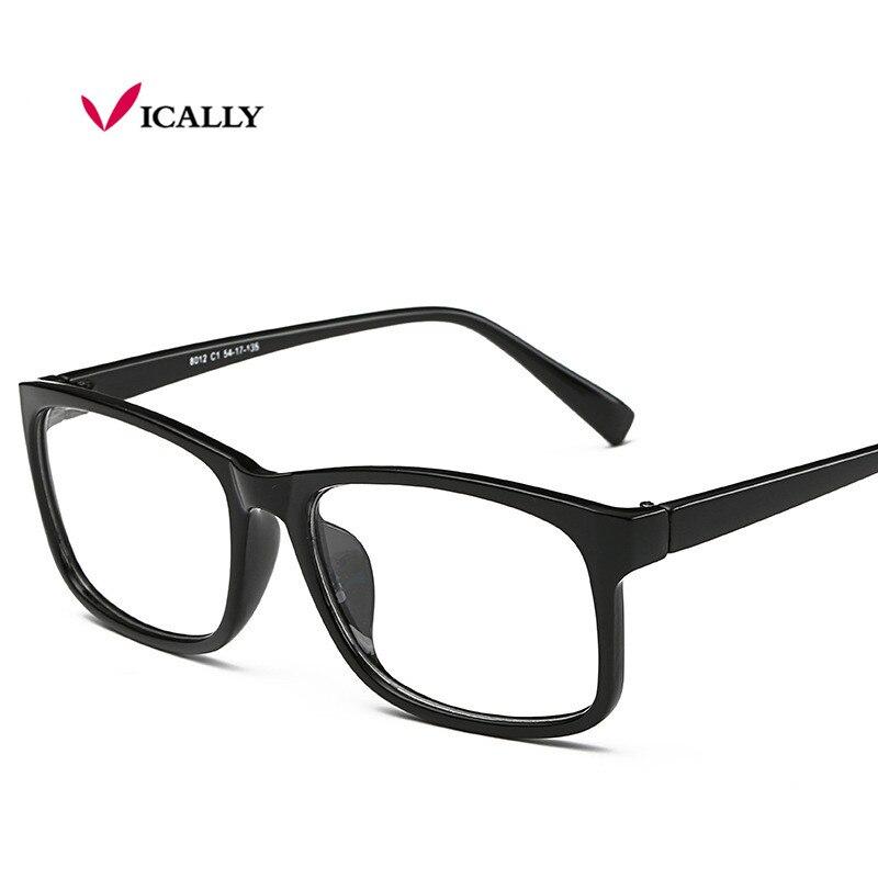 Fashion Glasses Frame Square Men Women Nerd Glasses Clear Lens Eyewear Unisex Reading Eyeglasses Spectacles Frame oculos de grau reflection