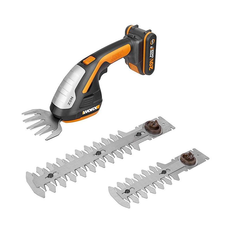 NEW ARRIVAL WORX WG801E 20V Zen Cordless Shrub/Grass Shear Hedge Trimmer power share worx cutter