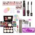 Makeup Kits Gift Set Eyeshadow Foundation Blusher Powder Brushes Set False Eyelash Eyebrow Pencil Eyelash Cream Powder Puff