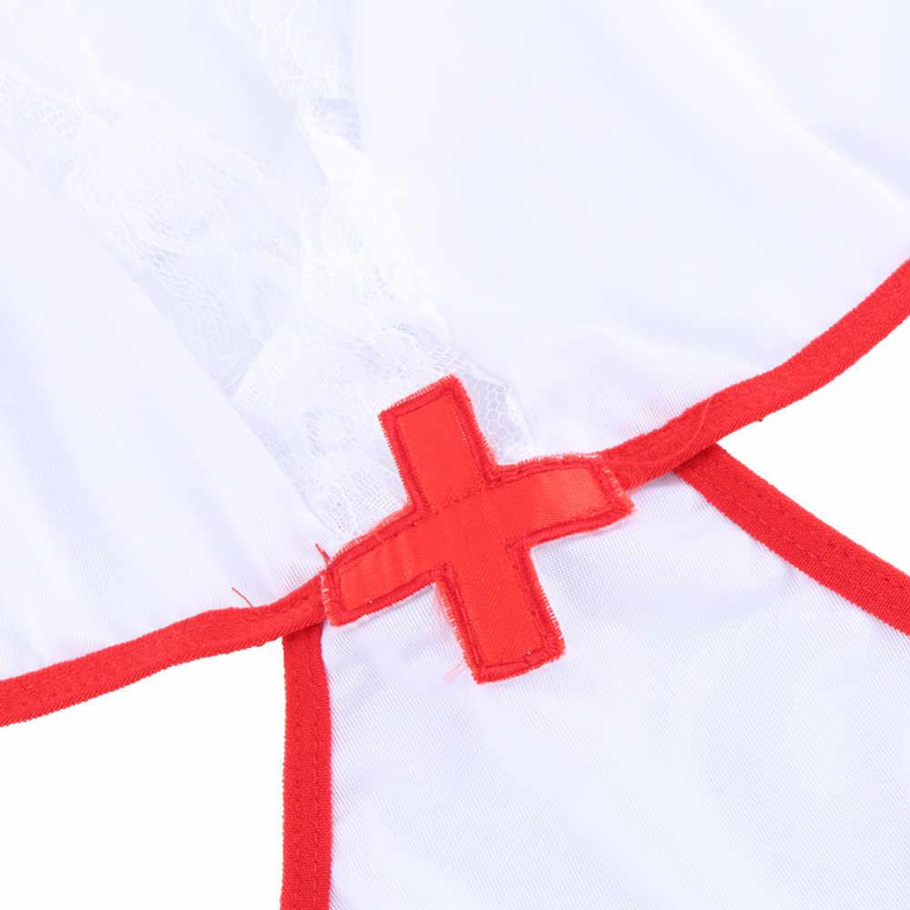 Nouveau pas cher dame uniformes Sexo vêtements érotiques infirmière pour le sexe Sexi Lingeries corps porno Ropa Erotica vêtements Sui Sexy sous-vêtements