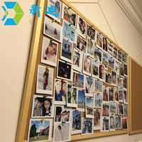 Free Shipping Wooden Frame Cork Notice Push Pin Boards Office Supplier 25 35cm Factory Direct Sell