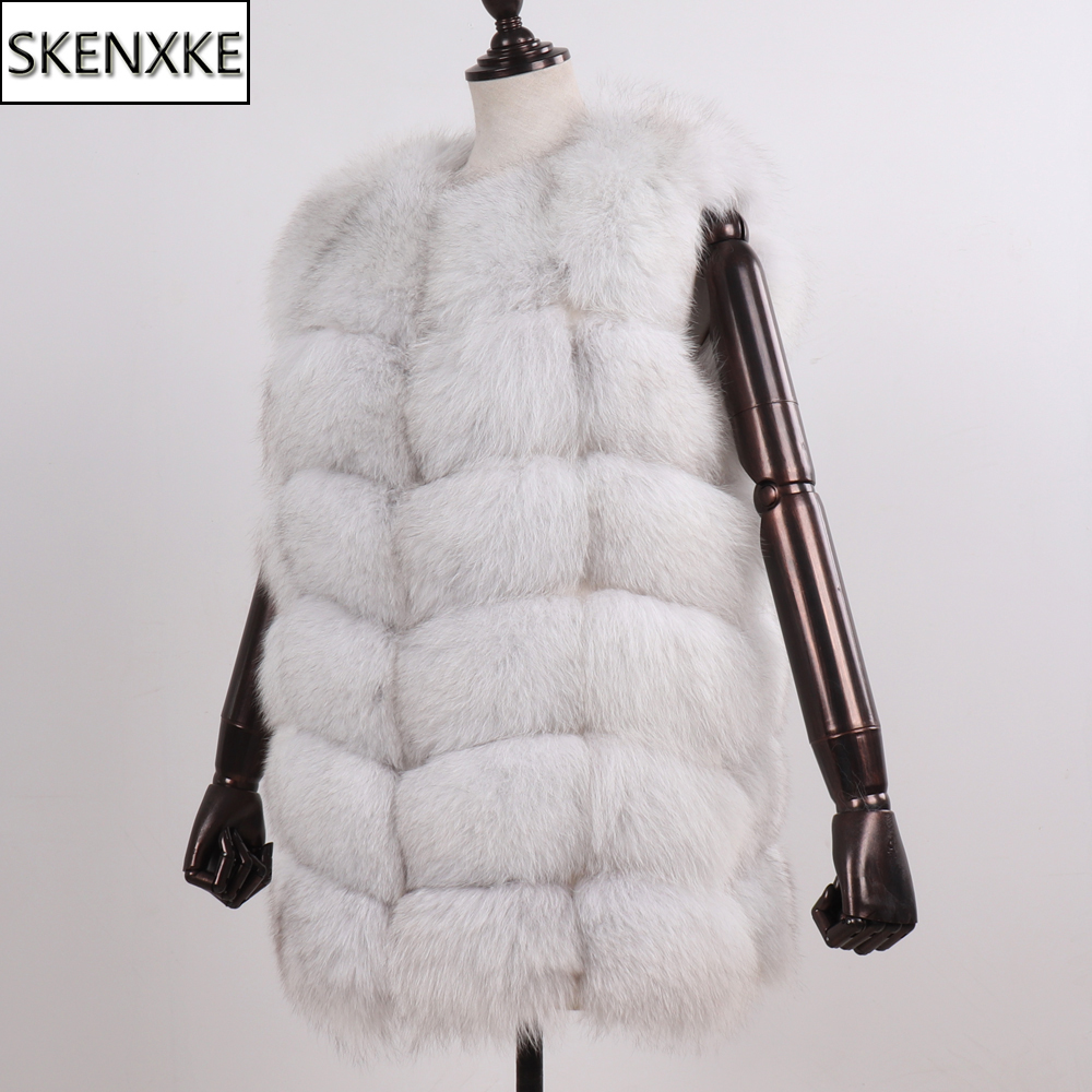 New Arrival Winter Women 100% Natural Fox Fur Vests Lady Thick Warm Real Fox Fur Gilet Full Pelt Good Quality Fox Fur Waistcoat
