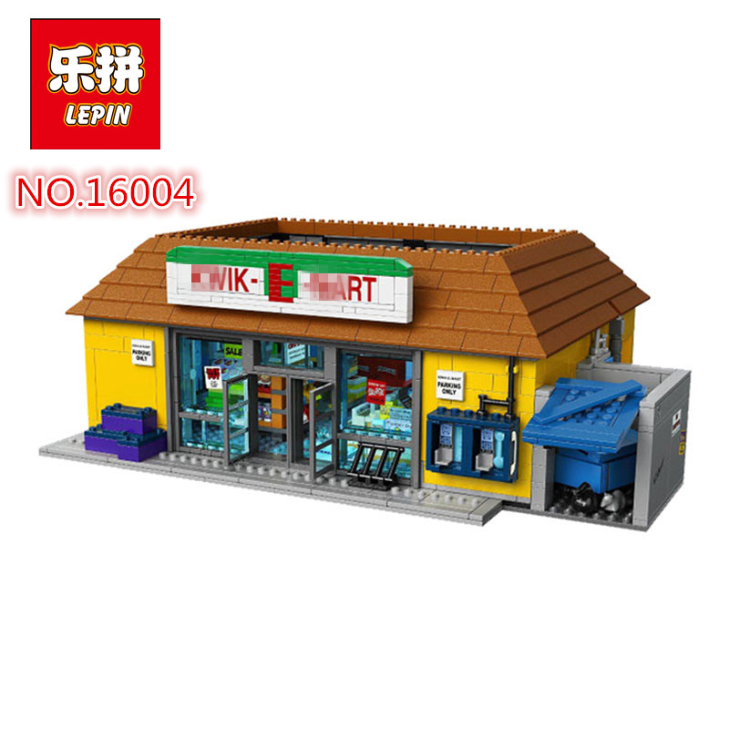 Здесь продается  2018 LEPIN 16004 Film Serie Simpsons Haus KWIK-E-MAR Setl Bausteinziegelsteine Pdagogisches Spielzeug fur Kinder 7  Игрушки и Хобби