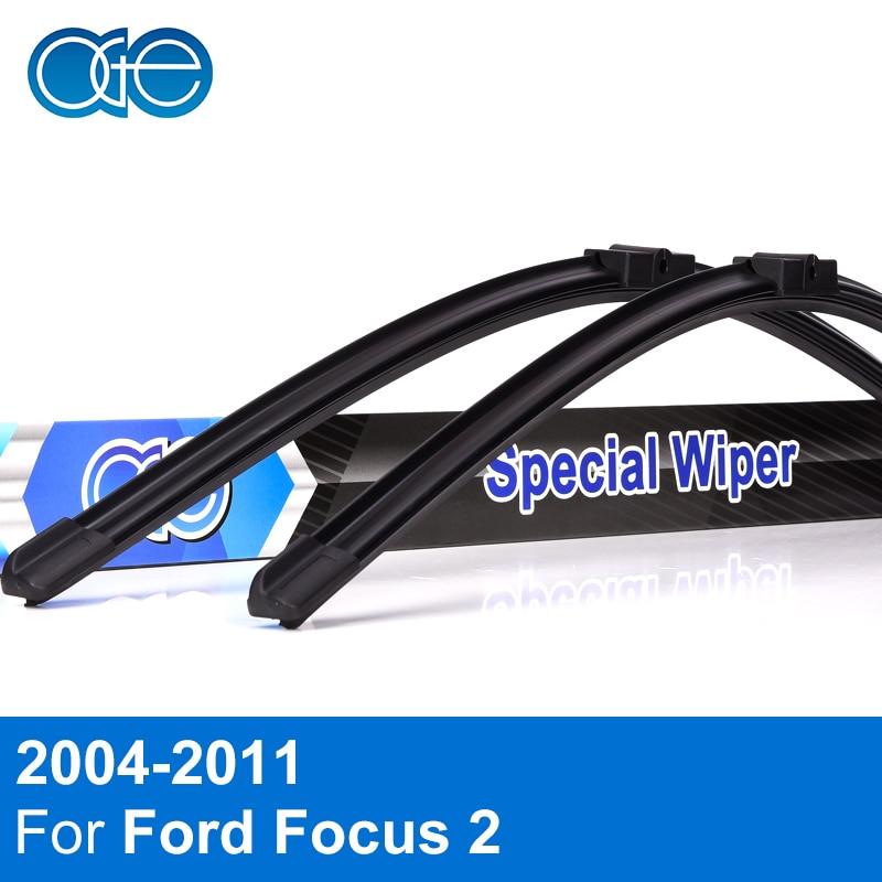 Oge D'essuie-Glace Lame Pour Ford Focus 2 2004 2005 2006 2007 2008 2009 2010 2011 Haute Qualité Naturel En Caoutchouc De Voiture accessoires