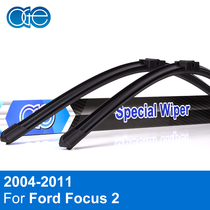 Oge Wiper Blade For Ford Focus 2 2004 2005 2006 2007 2008 2009 2010 2011 High Quality Natural Rubber Car Accessories free shipping waterproof fiber leather car floor mats for ford focus mk 2 2nd generation 2004 2010 2009 2008 2006 2005