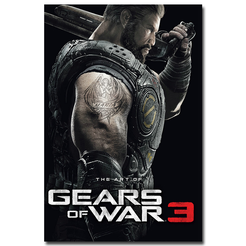 Gears of War 3 4 Art Silk Fabric Poster Print 13x20 24x36inch Hot Game JD Fenix Picture for Living Room Wall Decoration 003