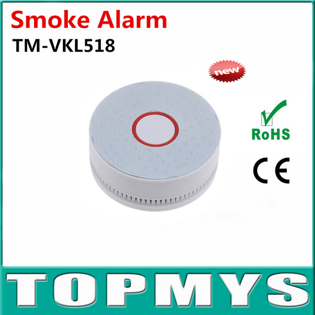 Indoor Smoke alarm TM-VKL518 with 10 Years Lifetime lithium-ion battery  Smoke detector give LED flashes red and buzzer alarm