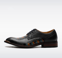 QYFCIOUFU 2019 Brand Top Quality Handmade Genuine Leather Shoes Men Pointed Toe Men Dress Shoes Oxfords Men Wedding Office Shoes