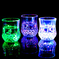 LED luminous glass water cup pineapple induction into the water that colorful luminous color cup creative Valentine Gift