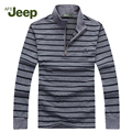 2016 Brand New AFS JEEP Men's sweater zipper long sleeve pullover men Low price knitwear mens sweaters pull 60