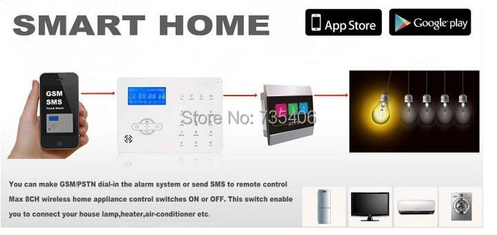 DIY KIT Drahtlose Alarm Dual netzwerk PSTN Und GSM Alarm System Smart Sicherheit Home Alarm System mit 32 drahtlose zone - 3