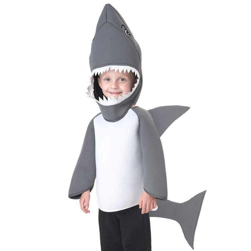 Anima קוספליי חג המולד פורים מתנה לילדים בני בנות כריש תלבושות ילדי משחק שמלת עבור נושא מסיבת קרנבל