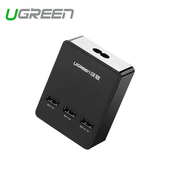 Ugreen USB wall charger universal travel charger 5V4A EU UK Plug 3 port mobile phone smart charger for Xiaomi LG