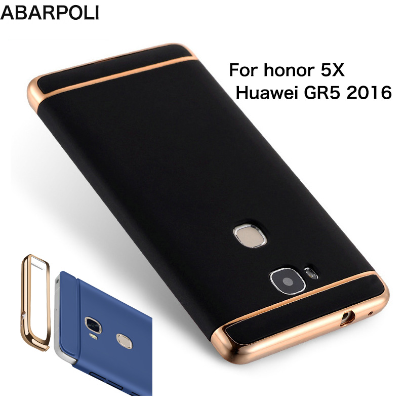 save off d672f c61b0 Hard Cover for Huawei Honor 5X Case Full Protection Housing Matte Back  Plating Bumper Cases on Huawei GR5 2016 Honor 5X Coque