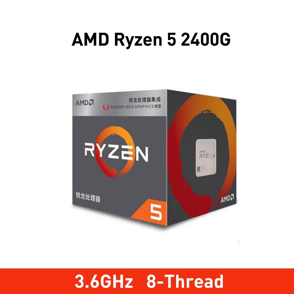 New amd ryzen 5 2400G r5 2400g 3 6GHz Quad Core Eight Thread Socket AM4 65W