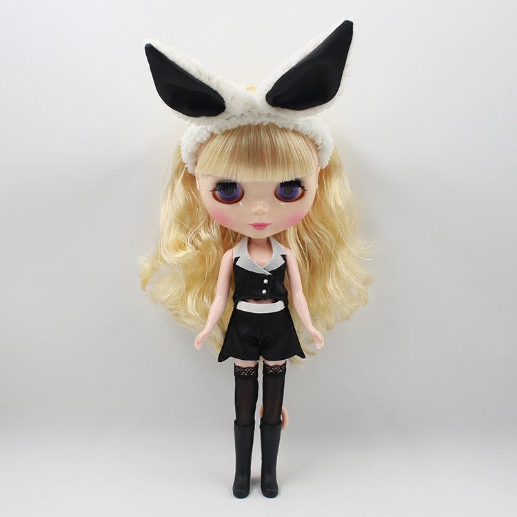 ФОТО Free shipping Nude Blyth doll DIY gold hair with bangs 12 fashion dolls kids toys baby dolls for girls