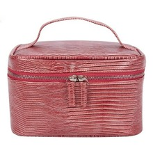 Multifunctional cosmetic bag PU leather small square large capacity case professional simple portable storage